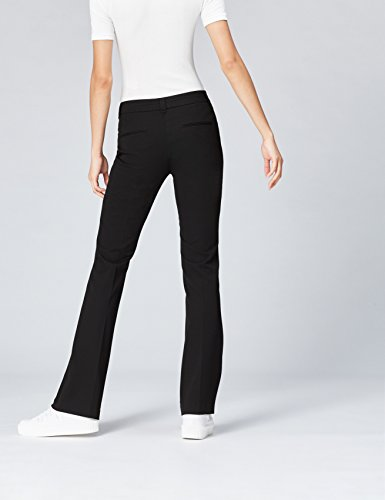 FIND Hose Damen mit Schlag und Schlitztaschen, Schwarz (Black), 40 (Herstellergröße: Large) - 3