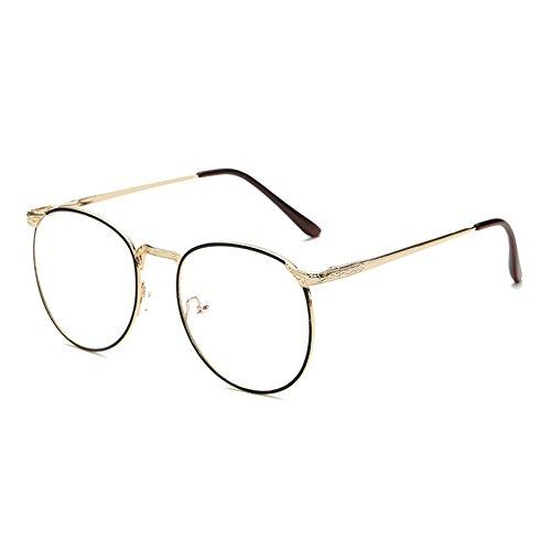 Zhuhaixmy Fashion feine Grenze ohne Stärke klare Linse Brillen Schlichtes Design von Metallrand neutrale Gläser (Brille Grenze)
