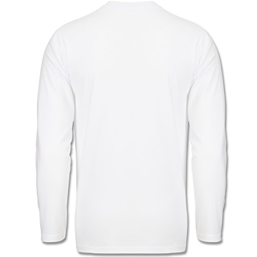 Geburtstag - Party Eulen Happy Birthday - Longsleeve / langärmeliges T-Shirt für Herren Weiß