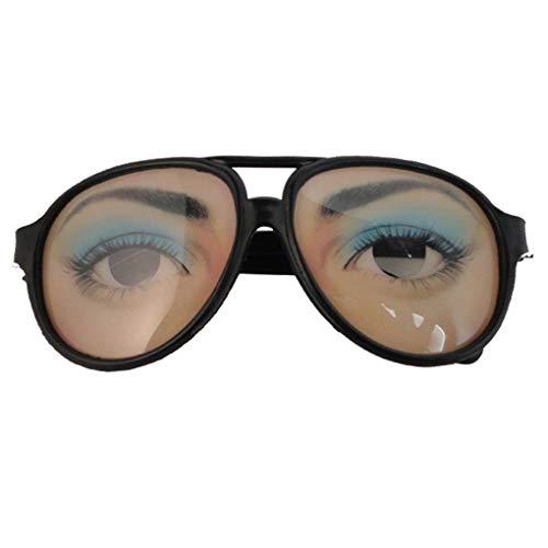 Topker Halloween Cosplay Partei DIY Dekorationen Lustige Kostüm-Augen-Glas-Spielzeug Ferien Prop Brillen-Gag-Geschenk
