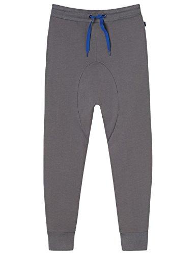 Schiesser Jungen Schlafanzughose Mix&Relax Joggpants, Grau (Dunkelgrau 205), 152