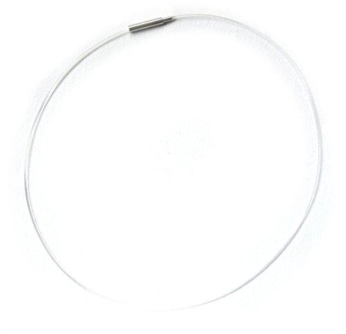 Halsreif Kunststoffreif transparent mit Drehverschluß 41-42 cm