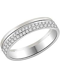 Libertini 18ct Oro Blanco Anillo de Diamante, 0.21 Ct Diamante, GH-PK, 42 piedras