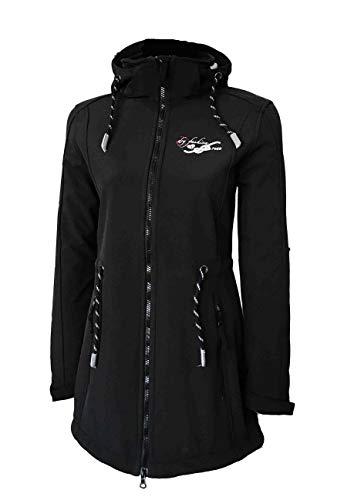 Dry Fashion Damen Softshellmantel Sylt No.2, Farbe:schwarz, Größe:44