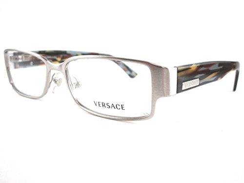 Versace Damen Brillengestell silber argento/multicolor Medium