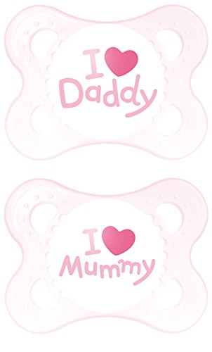 mam-set-di-succhietti-con-scritta-i-love-mummy-daddy-2-pz-rosa-pink-0-mesi