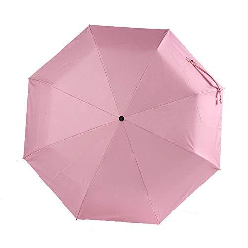 Mhsm Regenschirm Doppel Dreifach Faltbarer Blumenschirm Regenschirm Frauen Anti-Uv Sonnenschirm Sonnenschirm Damen Sonnenschutz Paraguas Pink