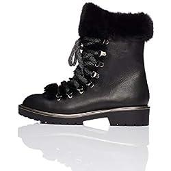 find. Fur Lined Hiker Zapatos de Low Rise Senderismo, Negro Black, 39 EU