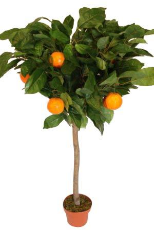 Künstliche Pflanzen - 1,2 m hoch, künstlicher Orangenbaum mit Topf