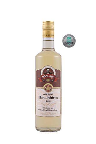 Hödl Hof Hirschbirne Fass | 38 % vol. | Hirschbirnenschnaps im Holzfass gelagert (Eichenfass) | Silber World Spirits Awards 2018 | Hirschbirnenschnaps aus Früchten vom eigenen Obstgärten | (0,7 l)