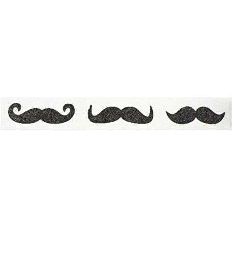 Schnurrbart Washi Tape (1Rolle-9/40,6cm breit x 10,95Meter lang)-Schnurrbart Partyzubehör, Klebeband, Schnurrbart Party Supplies, günstige Washi Tape, schwarz Klebeband