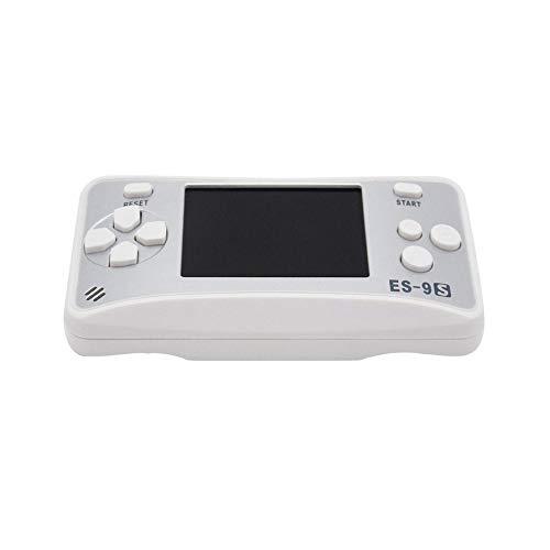 Mouchao Englischer Spielekonsole für Kinder Handspielkonsole 2,5-Zoll-Farbbildschirm Silber