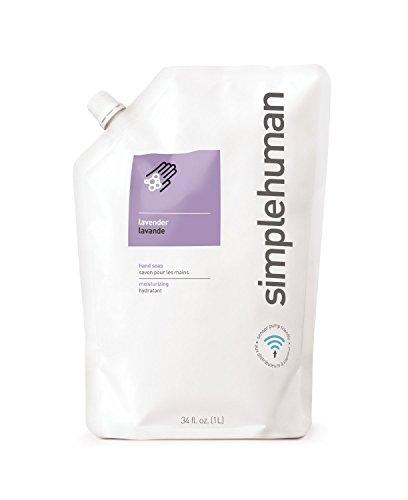 simplehuman Moisturising 1 Litre Lavender Liquid Hand Soap Refill Pouch