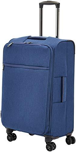 AmazonBasics - Trolley da viaggio morbido imbottito Belltown, 68 cm, Blu scuro