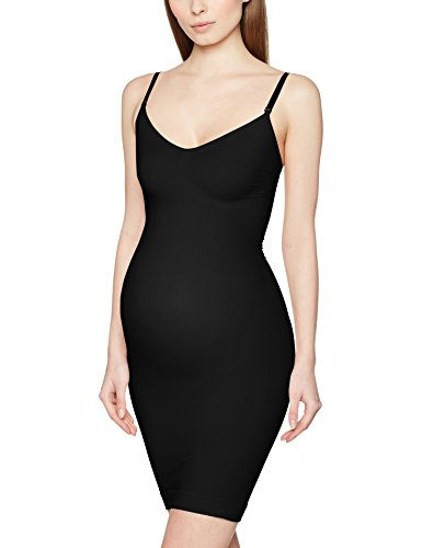 Bellybutton Maternity Damen Umstandsunterwäsche-Set Unterkleid mit Shape-Effekt, Schwarz (Caviar 1010), 40 (Herstellergröße: L)