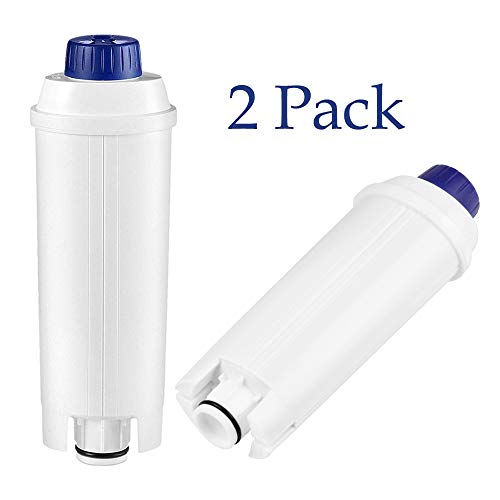 2er Wasserfilter für Delonghi Kaffeevollautomaten Filterpatronen Zubehör kompatibel mit De\'Longhi Kaffeemaschinen ECAM22.110 ESAM BCO EC ETAM usw. Weiß