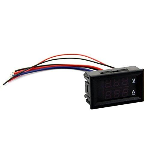 Dual-digital-messgeräte (TOOGOO DC 100V 10A Voltmeter Amperemeter Rot LED Panel Amp Dual Digital Volt Meter Messgeraet)
