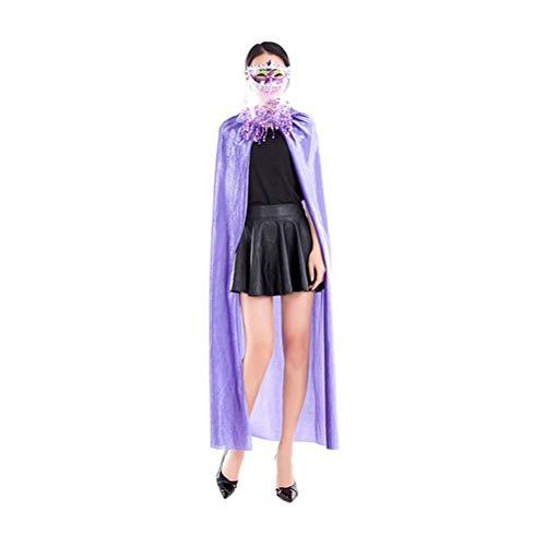 Zhhlinyuan Leichtgewicht Kapuzenumhang - Niedlich Maskerade Party Kostüm Teufels Umhänge Volle Länge für Frauen