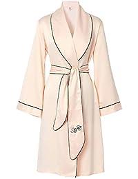 XCXDX Batas De Baño Largas, Pijamas Suaves De Satén, Kimono Elegante, Batas De