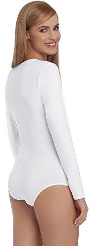 Merry Style Damen Langarm Body BD101 Weiß