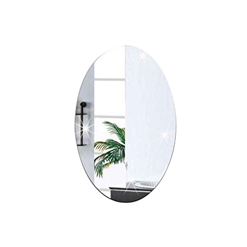 Providethebest Espejo de Pared calcomanía de Oval Auto Adhesivo Rectangular Dormitorio Tienda...