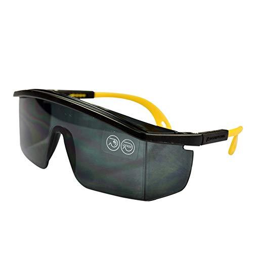 Yiph-Sunglass Sonnenbrillen Mode Wraparound-Schutzbrille klare Linse transluzenter gelber Rahmen (1er Pack)