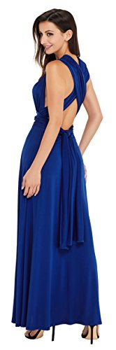 EasyMy Damen Maxi Abendkleider Lang Cabrio Multi-Way Party Cocktailkleid Brautjungfer Kleider Marine