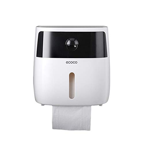 JJ.Accesssory Wall Mounting Toilet Paper Holder Waterproof Roll Paper Shelf Tray Creative Multifunction Save Space Storage Box Flush-mounting Box