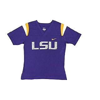 Nike Boy's NCAA LSU Lousiana State Tigers V neck T-Shirt 1