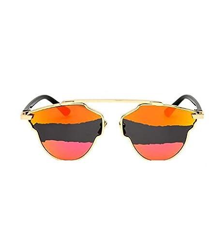 MYLL2017 New Arc-en Deux Couleurs Dames Lunettes De Soleil Classic Europe Et Les États-Unis Lunettes Cat Eye Protection UV400,Orange-OneSize