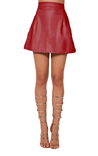 A Line Leather Skirts: Amazon.co.uk