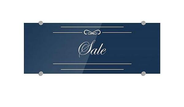 Garage Sale Victorian Card Premium Brushed Aluminum Sign CGSignLab 27x18