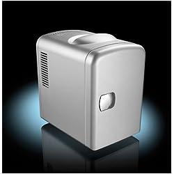 Mini réfrigérateur 2 en 1 avec prise 12/230 V - Gris [Rosenstein & Söhne]