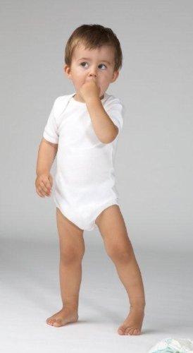 wellyou, 2er Set Kinder Baby-Body Kurzarm-Body, klassisch weiß, für Jungen und Mädchen, Feinripp 100% Baumwolle, Größe 104 - 110