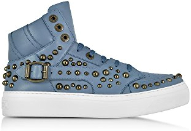 Jimmy Choo Herren RUBENHSTJEANS Blau Leder Hi Top Sneakers