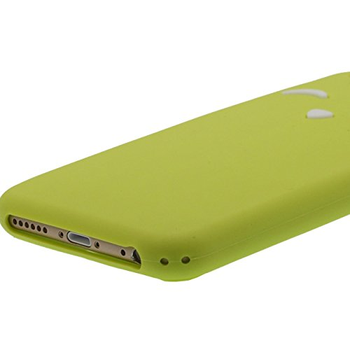 Bellissimo Gatto Forma Design Serie Molti colori per scegliere, Morbida Silicone Custodia protettiva Cover per Apple iPhone 6S Plus 6 Plus 5.5 inch Molto Premium Verde