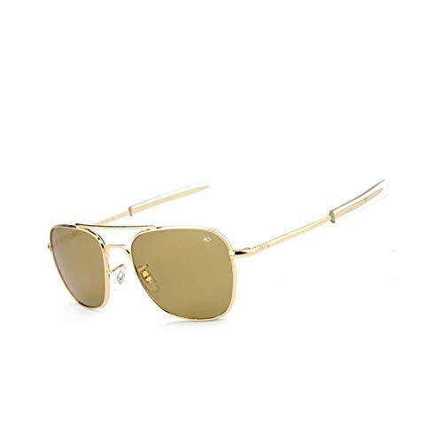 Sportbrillen, Angeln Golfbrille,Pilot Sun Glasses For Men AO Sunglasses Aviation Zonnebril Mannen Douglas Macarthur Glasses Oculos Lunette De Soleil Homme Sol Gold-Maroon