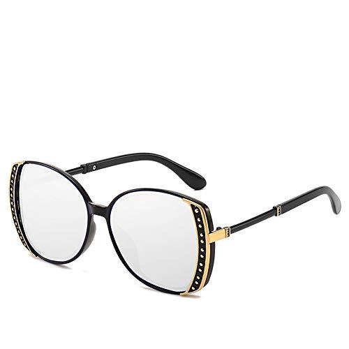 WLNKJ New Trend Big Box Damen Polarisierte Sonnenbrille, Net Rote Sonnenbrille Anti-UV-Sonnenbrille,C