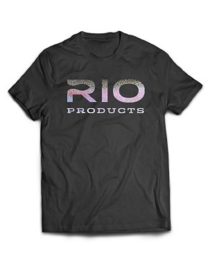 Rio Fly Fishing Steelhead Logo Tee Jet T-Shirt, Herren, Accessories, schwarz, X-Large -