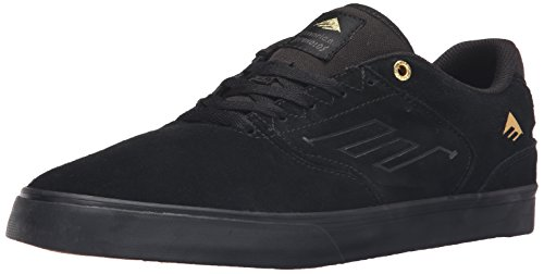 emerica-the-reynolds-low-vulc-bk-skateboard-hommes-noir-black-gold-970-42-eu