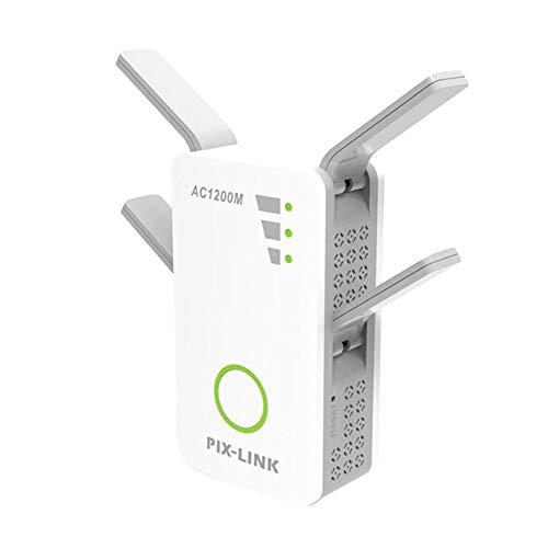Wireless Router Signal Enhanced Wall Amp, 2,4 G / 5 G WiFi Repeater Dual Band Ap 1200 Mbit/s Wireless Ac Extender Router Verstärker WPS mit 4 Antennen mit hohem Gewinn -
