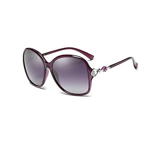 JFFFFWI Polarisierte Sonnenbrille Schatten große Brille klassischen Modestil Linsenmaterial Harz (Farbe: lila)