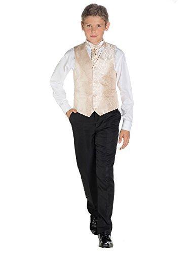 Noir Gilet Kostüm - Paisley of London Kostüm Weste Jungen, Wirbel Weste, Schwarz Hose, 3-6Monate-14Jahre Gr. 2-3 Jahre, Gold