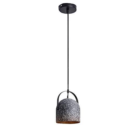ZYY Zement Kronleuchter Retro Beton Deckenleuchte LOFT Schmiedeeisen LED-Licht Kreative Persönlichkeit Granit Transluzent Warmlicht Innenbeleuchtung Restaurant Schlafzimmer Wohnzimmer Nachttischlampe, - Granit-pendelleuchte