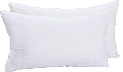 Cuscini da letto imbottiti in fibra Premium (2 pezzi, bianco) Cuscini di dimensioni standard / 40x80 cm per dormire, fibra siliconata cava 3D di Utopia Bedding