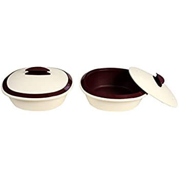 Signoraware Double Wall Small Casserole Set, Set of 2, 1 Litre, Maroon