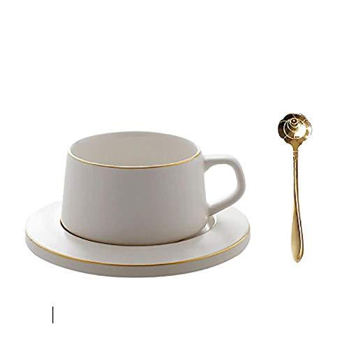 Nordic Wiederverwendbare Kaffeetassen-Set, Espresso-Tassen, Wasser, feines Knochenporzellan, süße Cappuccinotasse, Weihnachtsgeschirr, Home 50T019, 220 ml, Style8