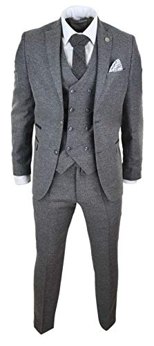 Style Carreaux Blinders Pièces Costume Peaky Chevrons 3 Laine Tweed n0N8wm