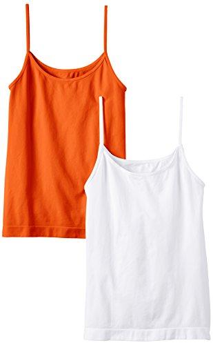 Luigi di Focenza Damen Spaghettitop - Débardeur - Femme Orange - Orange (orange/weiß 297/099)