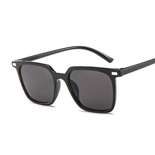 DWSYDA Quadratische Rahmen-Weinlese-Sonnenbrille-Frauen-Sonnenbrille für weibliche Farbton-Brillen,2